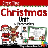 Christmas Preschool Centers and Circle Time