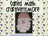 """Santa Math Craft and math """"skills"""" color printables- {A Sa"""