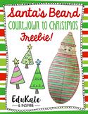 Santa's Beard Countdown to Christmas! {Freebie!}