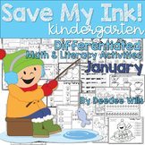 Save My INK: January NO PREP Math and Literacy Activities