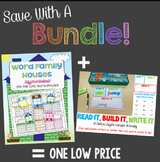 Save With A Bundle:  Word Family Houses and Read It, Build