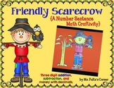 Scarecrow Math Craftivity: Addition and Subtraction Number