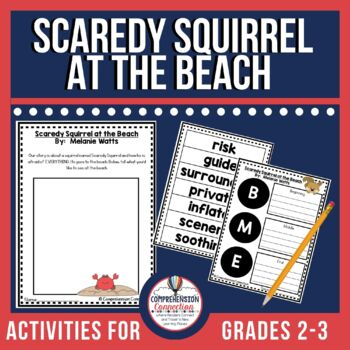 Scaredy Squirrel at the Beach Reading and Writing Unit
