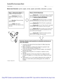 Scatter Plot Scavenger Hunt Activity