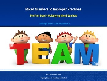 Scavenger Hunt ~ Mixed Numbers to Improper Fractions