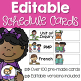 Schedule Cards - A visual daily timetable