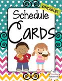 Schedule Cards {Chevron Polka Dot}