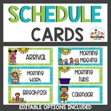 Schedule Cards In Lime and Teal