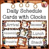 Schedule Cards - Jungle / Safari theme