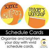 Schedule Signs (Bright & Clear Decor)