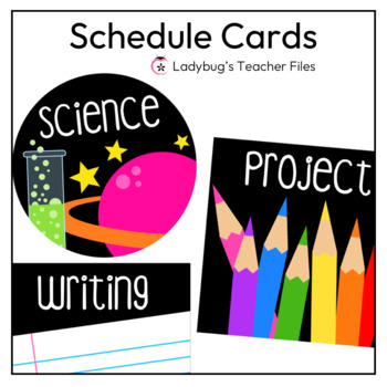 Schedule Cards (Black)