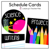 Schedule Cards (Black)