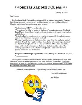 Scholastic Letter