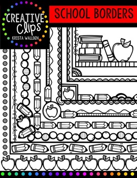 School Doodle Borders {Creative Clips Digital Clipart}