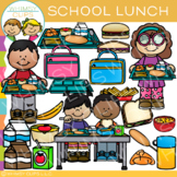 Little Shorties School Lunch Clip Art
