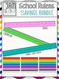 School Rulers Bundle Savings Clip Art Set