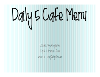 School Supplies Cafe Menu