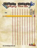 School Supply Shopping Checklist