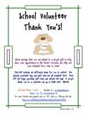 School Volunteer Thank You Tags
