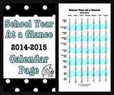 School Year At a Glance Academic Calendar Page (2014-15)