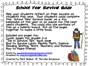 School Year Survival Guide