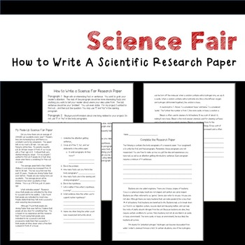 what to include in your science fair research paper With science fair season coming up as well as many end of the year projects, students are often required to write a research paper or a report on their project use this guide to help you in the process from finding a topic to revising and editing your final paper.