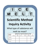 Winter Scientific Method Inquiry- What substance will melt