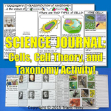 Science Journal: Cells, Cell Theory, and Taxonomy Activity