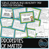 Science Journal Task Cards: States & Properties of Matter