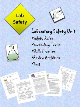 Science Laboratory Safety Unit - Lesson, Activities and Test