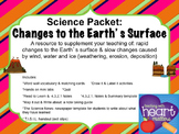 Science Packet: Changes to the Earth's surface