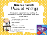 Science Packet: Uses of Energy
