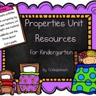 Science Properties Unit Resources for Kindergarten