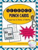 Science Punch Cards: Properties & States of Matter