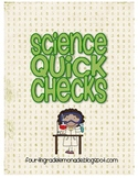 Science Quick Check Cards