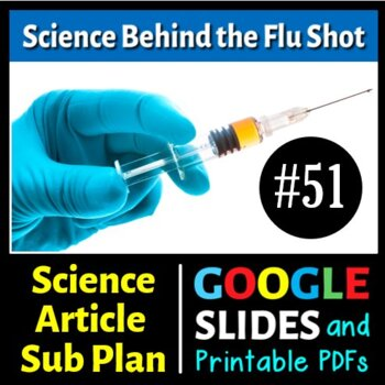 Science Reading Article - The Science Behind the Flu Shot - {FREE} Sub Plan