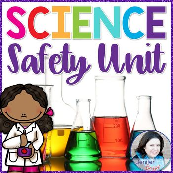 Science Safety Unit- Posters, Activities, Foldables, Scoot Game, and Unit Test