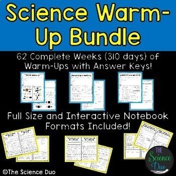 Science Warm-Up Bundle