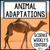 Science Weekly Five Stations- Animal Adaptations and Survival