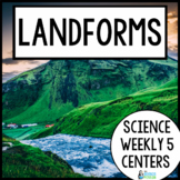 Science Weekly Five Stations- Landforms