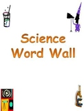 Science Word Wall Vocabulary Cards- Third Grade