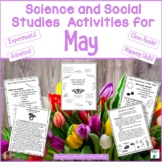 Science and Social Studies Printables for May