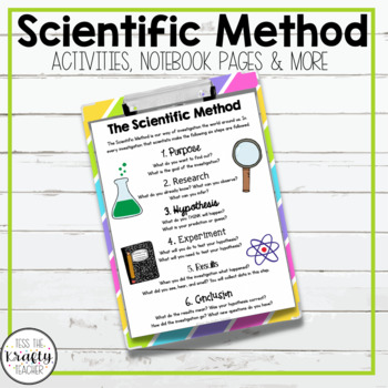 Scientific Process or Method Activities, Worksheets, Noteb