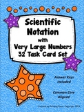 Scientific Notation - Task Card Set - Large Numbers