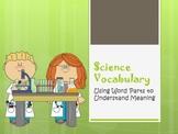 Scientific Vocabulary Activity