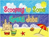 Scooping Up Some Great Jobs! Beach Themed Classroom Job Chart
