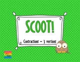 Scoot:  Contractions  {3 versions in one!}