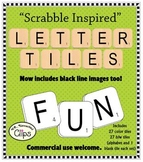 Scrabble Inspired! Letter Tiles Clip Art ~Commercial Use OK~