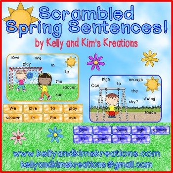 Scrambled Spring Sentences!