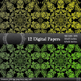 Scrapbook Sheet Pack Paper Instant Download Jpg Art Album